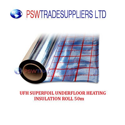 UFH SUPERFOIL UNDERFLOOR HEATING INSULATION ROLL 25m