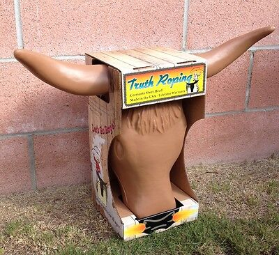Truth Roping Steer Head dummy rodeo practice team rope Brand New tan bull cow