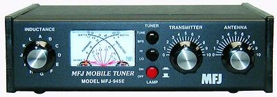 MFJ 945E Mobile Tuner, Covers 1.8 - 60 MHZ, 300 Watts With Antenna Bypass Switch
