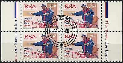 South Africa 1996 SG#936 World Post Day Cto Used Block #A81742