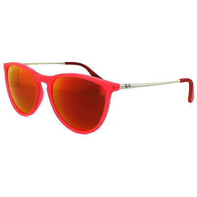 Ray-Ban Junior Sunglasses Izzy 9060 70096Q Rubber Pink Red Mirror