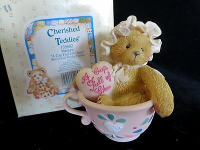 Cherished Teddies MARILYN A Cup Full of Cheer 135682 in Box