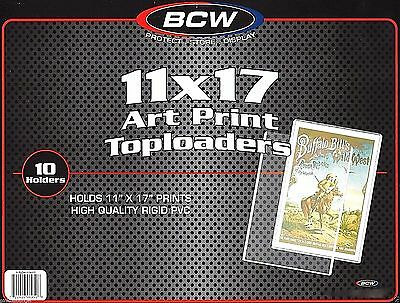 15 BCW 11X17 Art Print Toploader Top Load Holder Poster Menu Photo Frame