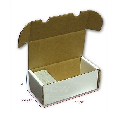 BCW 400 Card Storage Box Baseball Trading Gaming Cardboard - MTG - YU-GI-OH!