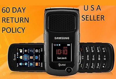 New UNLOCKED AT&T Samsung Rugby 2 II A847 3G GSM Rugged Flip Camera Phone Black