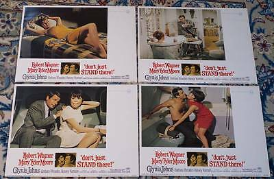 7 X Us Lobby Cards - Don't Just Stand There 1968 Mary Tyler Moore Robert Wagner