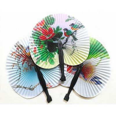 Retro Fashion Chinese Classic Folding Small Round Paper Fan Home Decoration Hot