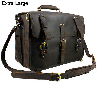 Vintage Crazy Horse Leather men's backpack Travel bags luggage duffle bag Tote