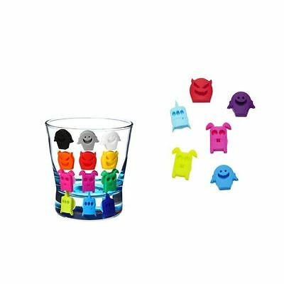 8 Glass Marker Monsters Alien Design Party Bottle Drink Charms Wine Cocktail BBQ
