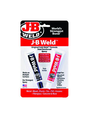 J-B Weld 8265S Cold Weld Steel Reinforced Epoxy With Hardener, 2 part 1 oz Each!