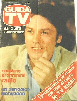 Guida Tv 1979 N.35 Alain Delon Elisabetta Viviani Radio E Tv Private