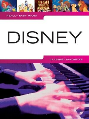 DISNEY - Really Easy Piano Book *NEW* Sheet Music, Lyrics 23 Songs