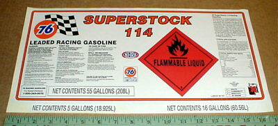Unocal Union 76 Superstock 114 Gas rare Gasoline Can sticker NHRA Drag Racing