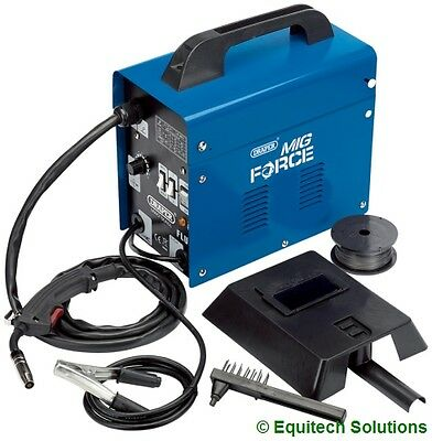 Draper Tools 32728 Gasless No Gas Mig Welder with Mask & Welding Wire MWD100AGL