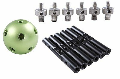 Movo MBA6 Magic Ball Multi Adapter w/6 Rods for DSLR Video Camera Rig/Arm/Dolly