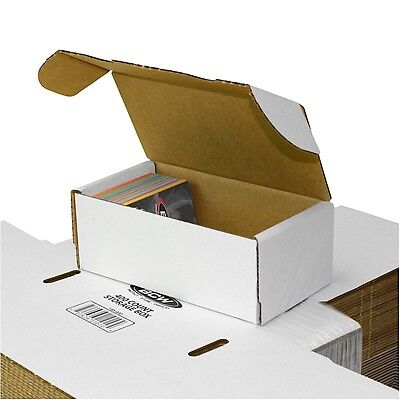 50 New 400 Card Cardboard Storage Boxes BIG LOT Sports Cards Box  BCW Quality