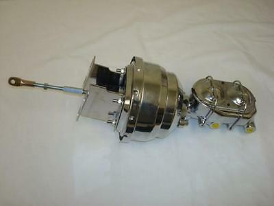 """1957 - 1959 Ford Chrome 8"""" Dual Power Brake Booster + Bail Top Master Cylinder"""