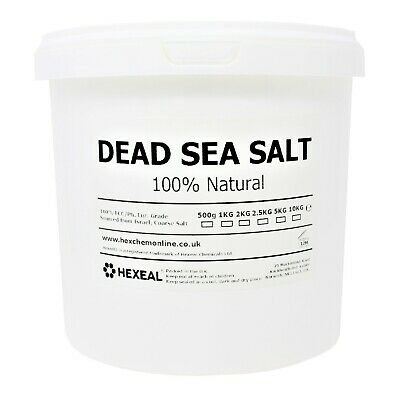 DEAD SEA SALT | 5KG BUCKET | 100% Natural | FCC Food Grade