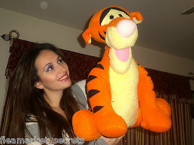 "DISNEY JUMBO 20"" Large PLUSH TIGGER FROM WINNIE POOH LOVEY TOY SOFT BABY"