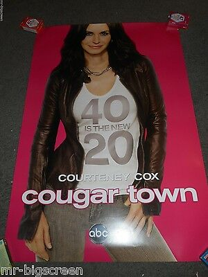 Cougar Town - Original Ss Rolled Promo Poster - Courteney Cox