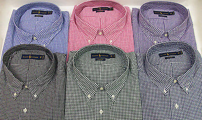 Polo Ralph Lauren Gingham Plaid Classic Fit Poplin Cotton Shirt $98 W/ Pony NWT