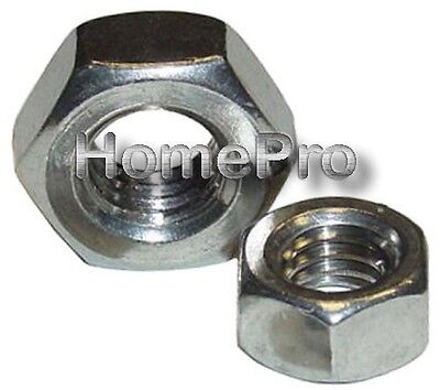 6/32 STAINLESS STEEL MACHINE SCREW HEX NUTS 40 pcs
