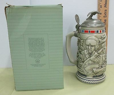 1990 Avon Tribute to the Armed Forces Beer Stein/Decanter w/box