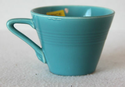 "Vintage ""early HLC fiesta"" HARLEQUIN ORIGINAL TURQUOISE BLUE TEACUP"