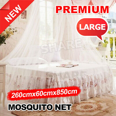 OZ New Single Double Queen Canopy Bed Net Mosquito Midge Insect Stopping Outdoor
