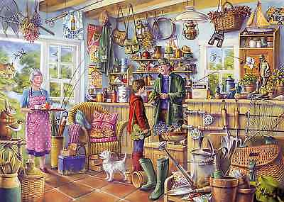 GIBSONS JIGSAW PUZZLE 1000 PIECES The Fishing Shed by Tony Ryan G6173