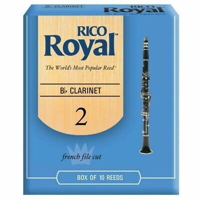 Rico Royal Bb Clarinet Reeds Strength 2  - 10 Reed Pack Made in USA