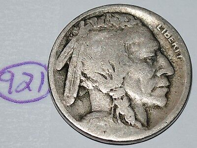 United States 1916 S Buffalo Nickel USA Indian 5 Cents Coin Lot #921