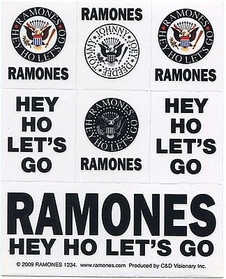 RAMONES hey ho let's go: 7 STICKER PACK **FREE SHIPPING** -decal,  the -c s6075c