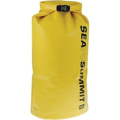 Sea to Summit Stopper Dry Bag 65L YELLOW Ultra Light Waterproof - Camping Boat