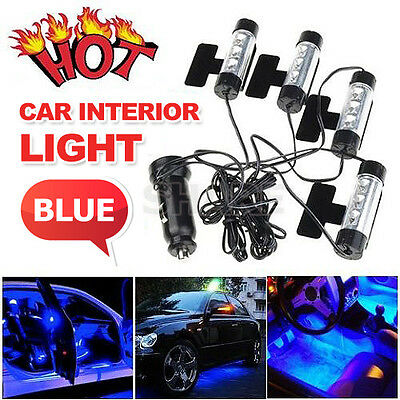 oz bright blue led car interior neon light kit glow lamp charger 12v aud picclick au. Black Bedroom Furniture Sets. Home Design Ideas