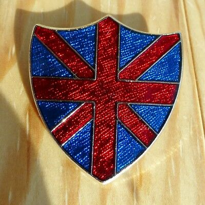 UNION JACK FLAG shield British GB pin / badge - high quality made in England