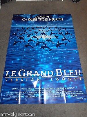 The Big Blue - Original Huge French Poster - Luc Besson - 1998 Re-Release