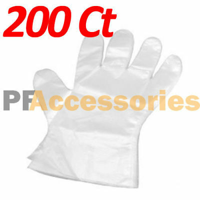 200 Pcs Disposable Sanitary Plastic Glove Restaurant Home BBQ Cook Kitchen Food