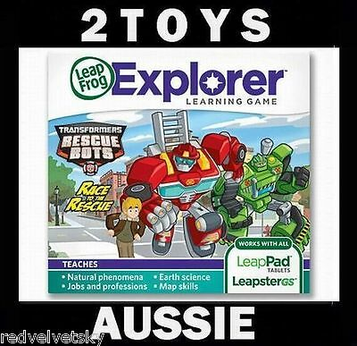 LeapPad 1, 2, 3 & ULTRA, LEAPSTER GS & EXPLORER ~ TRANSFORMERS Rescue Game