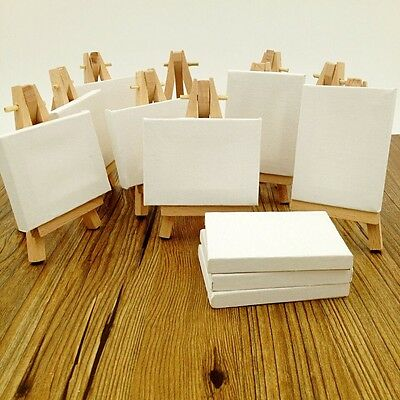 Lot of 12 Blank Canvas and Display Easel Great for Wedding Name Board 3.25x4""
