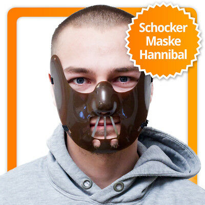 Beißer Maske für Halloween, Karneval & Horry Party für den Hannibal Lecter Look!