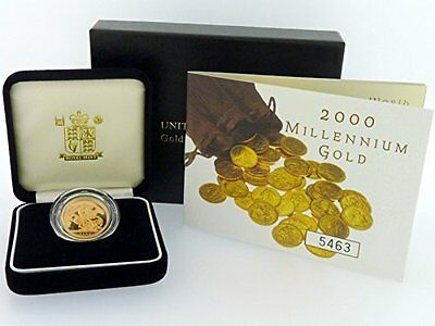 Royal Mint 2000 Gold Proof Full Sovereign Boxed Certificate Authenticity
