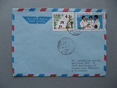 TOGO, cover to Germany 1989, healthcare vaccination