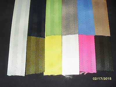 10yds 1.5in wide seat belt type nylon webbing ltwt craft sewing 11 COLOR choices