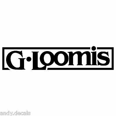G.Loomis Decal for Fishing Boat Car Vinyl Sticker G Loomis REMOVABLE