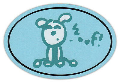 Oval Dog Car Magnet - Woof - Life Is Good - Bumper Sticker Decal