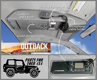 Outback Roof Console Rchi05Cc Toyota Hilux Single Cab/cab Chassis 03/05-9/15