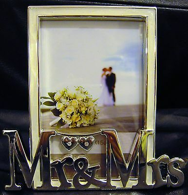 Mr And Mrs Silver Plated Photo Frame Wedding  Photo Frame Gift