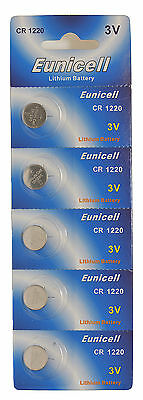 5 x CR1220 5012LC 3V Lithium Button Cell Coin Battery