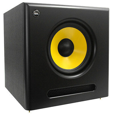 Seismic Audio Active 10 Inch Studio Subwoofer- 100 Watts RMS - 8 Ohms